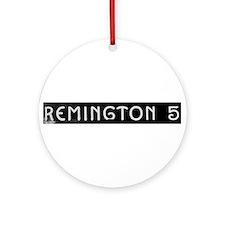 Art Deco Label Ornament (Round)