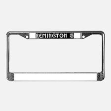 Art Deco Label License Plate Frame