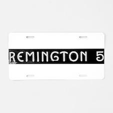 Art Deco Label Aluminum License Plate