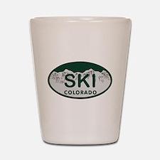 Ski Colo License Plate Shot Glass