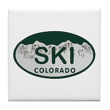 Ski Colo License Plate Tile Coaster