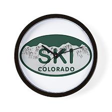 Ski Colo License Plate Wall Clock