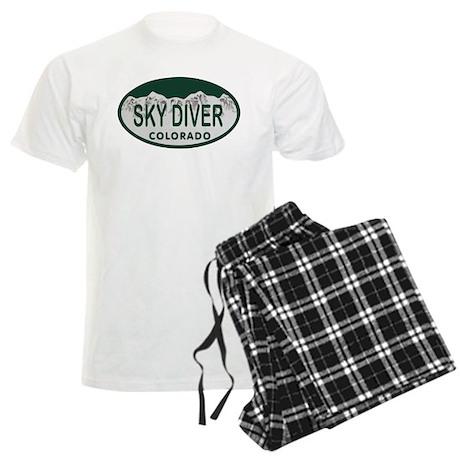 Sky Diver Colo License Plate Men's Light Pajamas