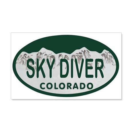 Sky Diver Colo License Plate 20x12 Wall Decal