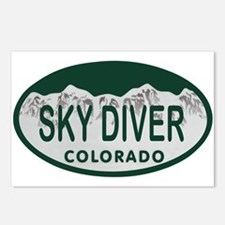 Sky Diver Colo License Plate Postcards (Package of