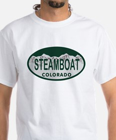 Steamboat Colo License Plate Shirt
