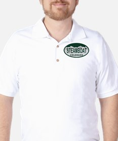 Steamboat Colo License Plate Golf Shirt