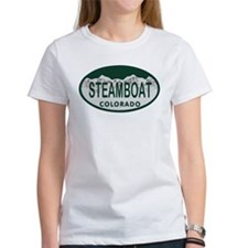 Steamboat Colo License Plate Tee