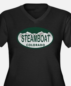 Steamboat Colo License Plate Women's Plus Size V-N