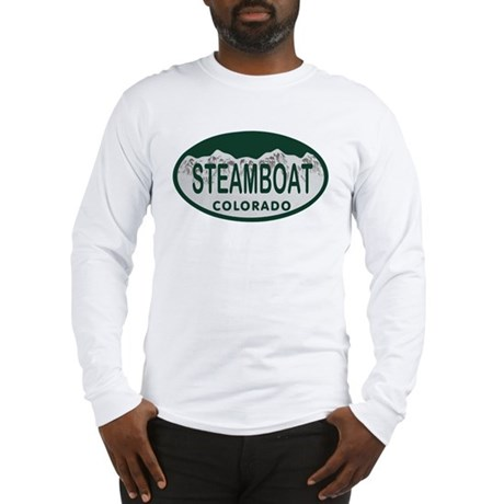 Steamboat Colo License Plate Long Sleeve T-Shirt