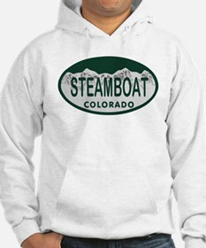 Steamboat Colo License Plate Hoodie