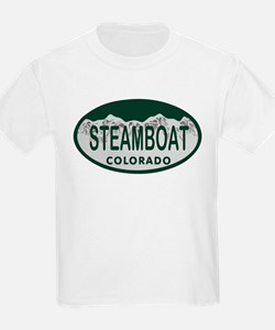 Steamboat Colo License Plate T-Shirt