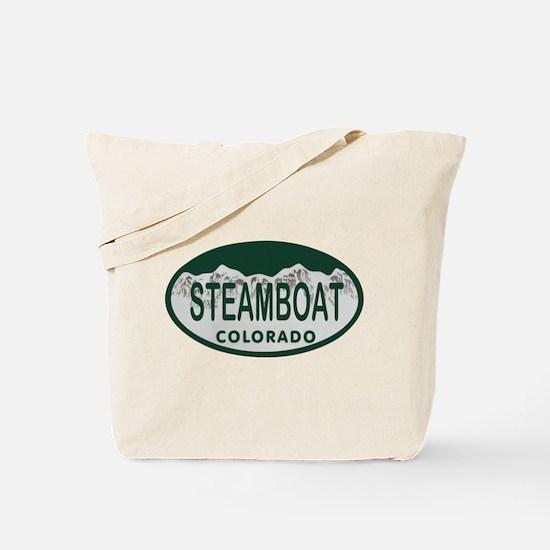 Steamboat Colo License Plate Tote Bag