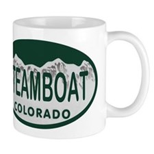 Steamboat Colo License Plate Mug