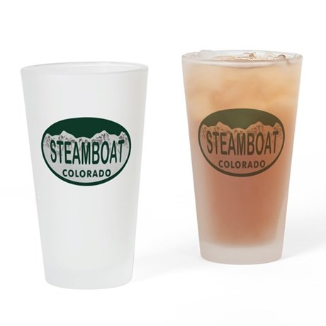 Steamboat Colo License Plate Drinking Glass