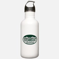 Steamboat Colo License Plate Water Bottle