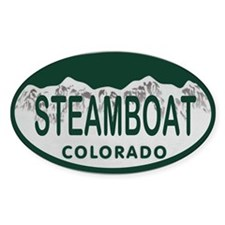 Steamboat Colo License Plate Decal