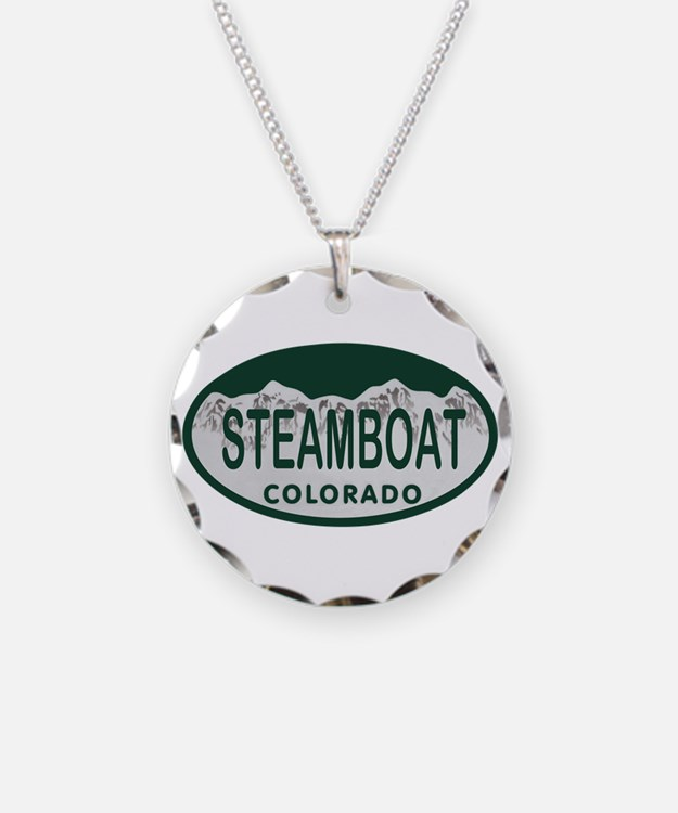 Steamboat Colo License Plate Necklace