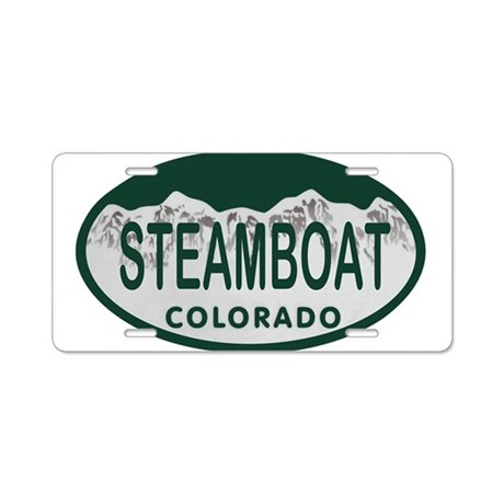 Steamboat Colo License Plate Aluminum License Plat