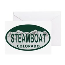 Steamboat Colo License Plate Greeting Card