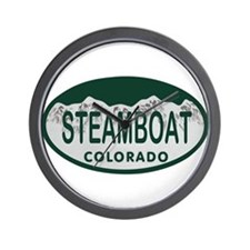 Steamboat Colo License Plate Wall Clock