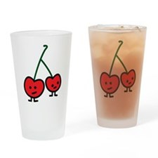 Happy Cherries Drinking Glass
