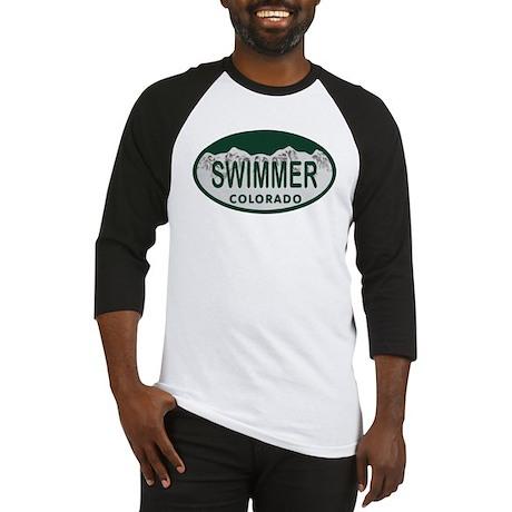 Swimmer Colo License Plate Baseball Jersey