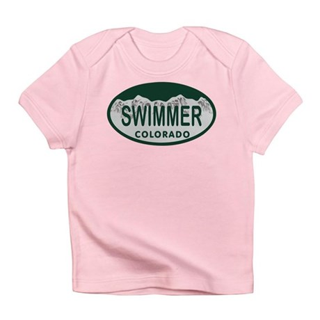 Swimmer Colo License Plate Infant T-Shirt