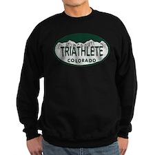 Triathlete Oval Colo License Plate Sweatshirt