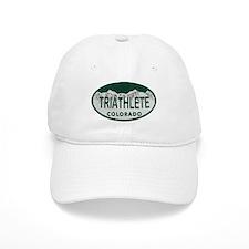 Triathlete Oval Colo License Plate Baseball Cap