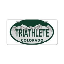 Triathlete Oval Colo License Plate Aluminum Licens