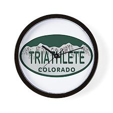Triathlete Oval Colo License Plate Wall Clock