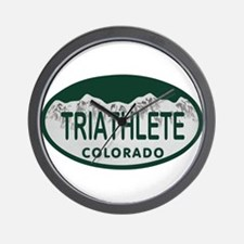 Triathlete Oval Colo License Plate Wall Clock