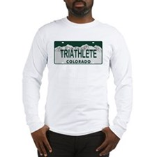 Triathlete Colo License Plate Long Sleeve T-Shirt