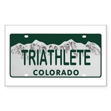 Triathlete Colo License Plate Decal