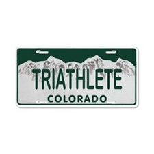 Triathlete Colo License Plate Aluminum License Pla