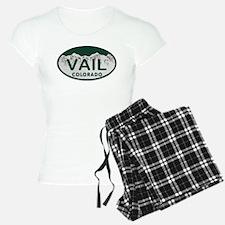 Vail Colo License Plate Pajamas
