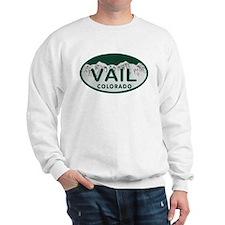 Vail Colo License Plate Sweatshirt