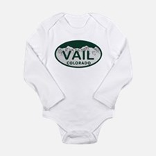 Vail Colo License Plate Long Sleeve Infant Bodysui