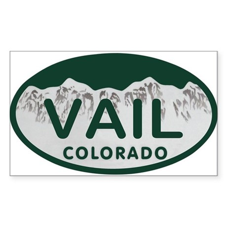 Vail Colo License Plate Sticker (Rectangle)