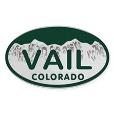 Vail Colo License Plate Decal