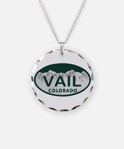 Vail Colo License Plate Necklace