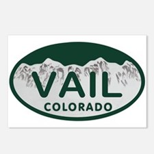 Vail Colo License Plate Postcards (Package of 8)
