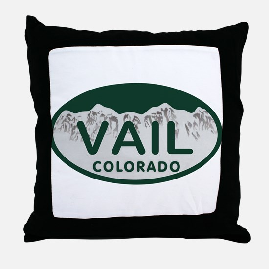 Vail Colo License Plate Throw Pillow