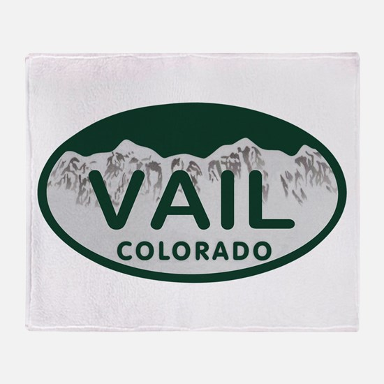 Vail Colo License Plate Throw Blanket