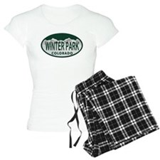 Winterpark Colo License Plate Pajamas