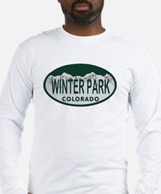 Winterpark Colo License Plate Long Sleeve T-Shirt
