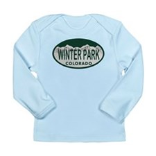 Winterpark Colo License Plate Long Sleeve Infant T