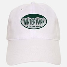 Winterpark Colo License Plate Baseball Baseball Cap