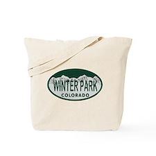 Winterpark Colo License Plate Tote Bag